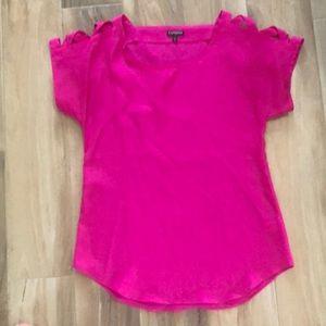 Express pink blouse